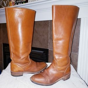 FRYE TALL PULL ON RIDING WESTERN LEATHER BOOTS